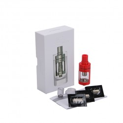 Joyetech  CUBIS Atomizer Kit 3.5ml Adjustable Airflow No Spilling Atomizer with Bottom Feeding Coil BF SS316/Clapton Head-Red