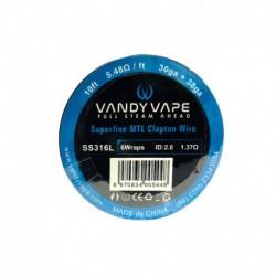 Vandy Vape SS316L Superfine MTL Fused Clapton Wire 30ga+38ga