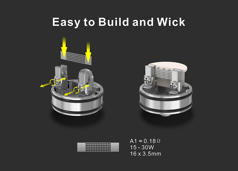 Damn Vape Intense Mesh RDA Easy to Build and Wick