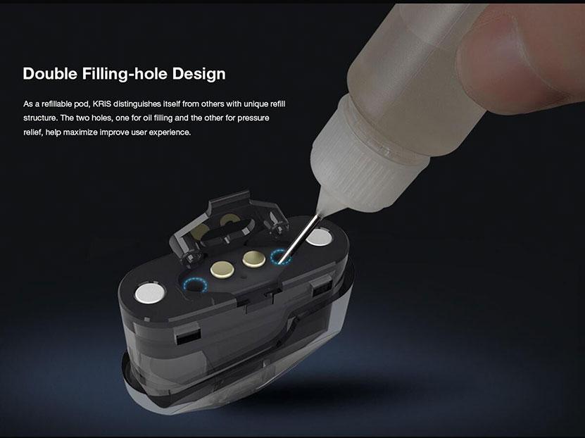 KRIS Pod System Kit Double Filling Design