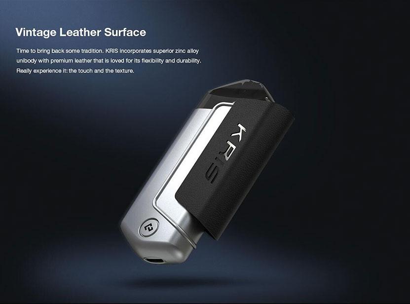 Hcigar KRIS Pod System Vape Kit Vintage Leather Surface