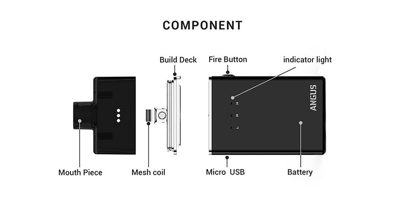 Angus RDA Vape Kit Structure