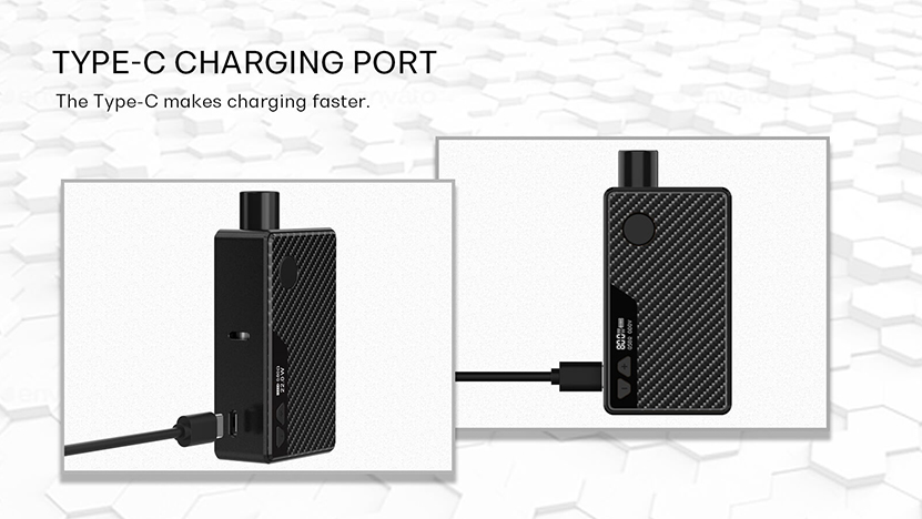 Manto Pod Vape Kit Type-C USB Port