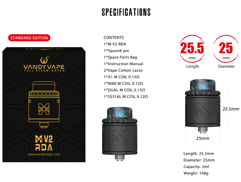 Mesh V2 RDA Atomizer Specification