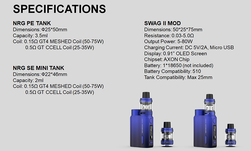 Swag II VW Kit Specification