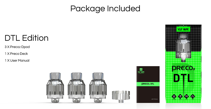 Vzone Preco 2 Tank DTL Edition Package