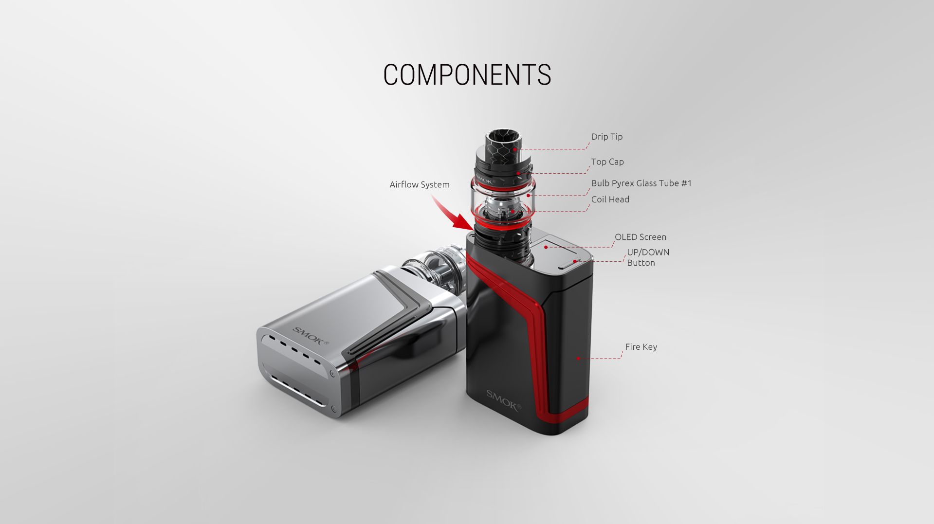 SMOK V-FIN Kit with TFV12 Big Baby Prince Tank