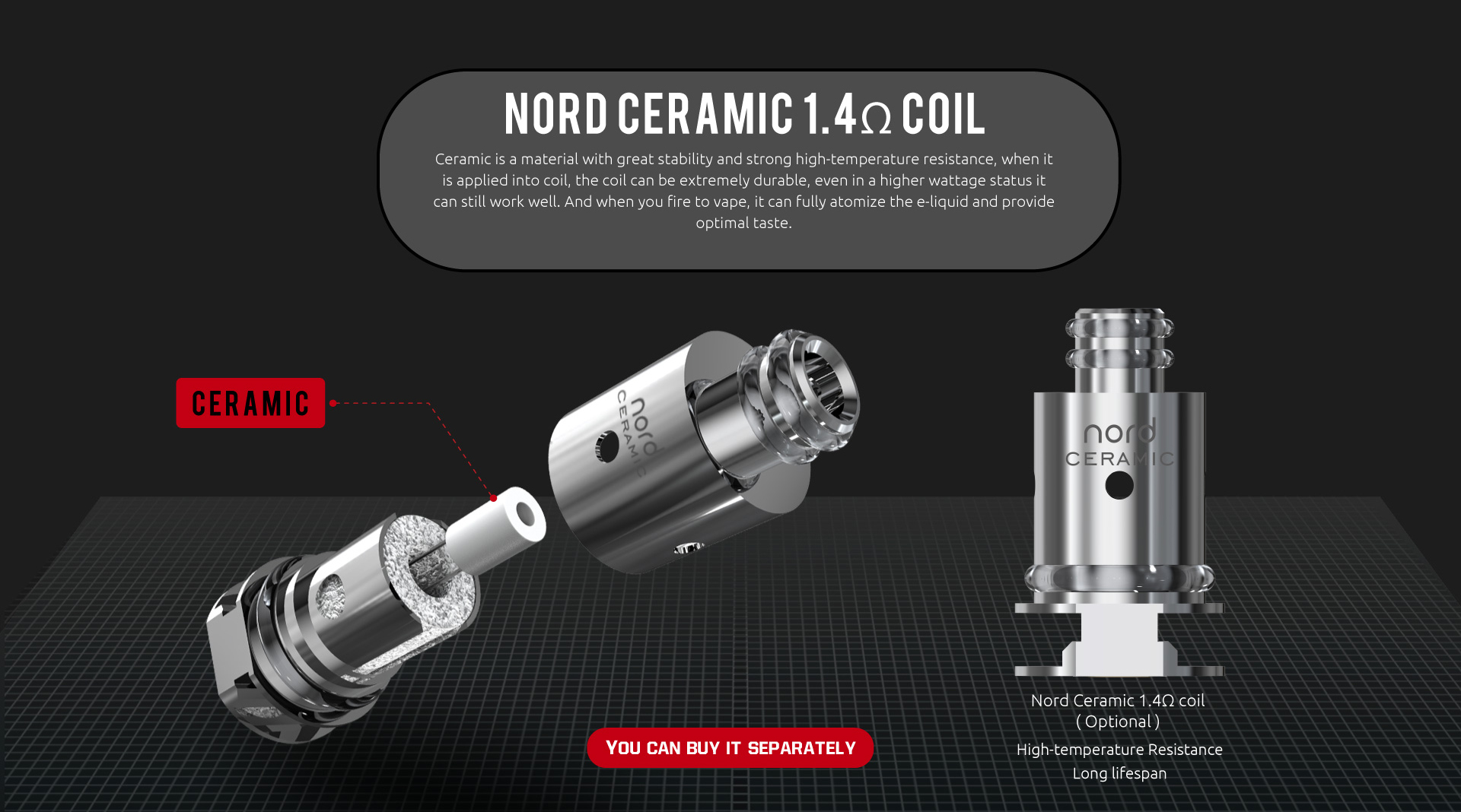 SMOK Nord Ceramic Coil Features 1