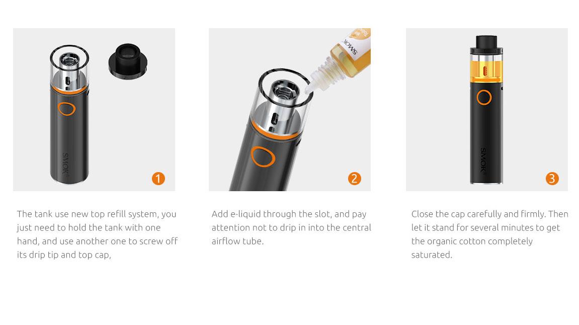 Smok Vape Pen 22 Kit With Top Filling Design And Powered