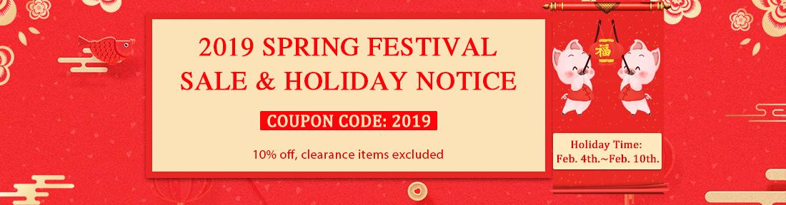 2019 Spring Festival Holiday Notice
