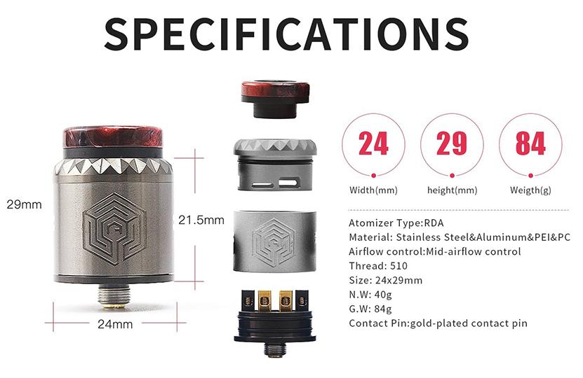 Advken Artha V2 RDA Specification