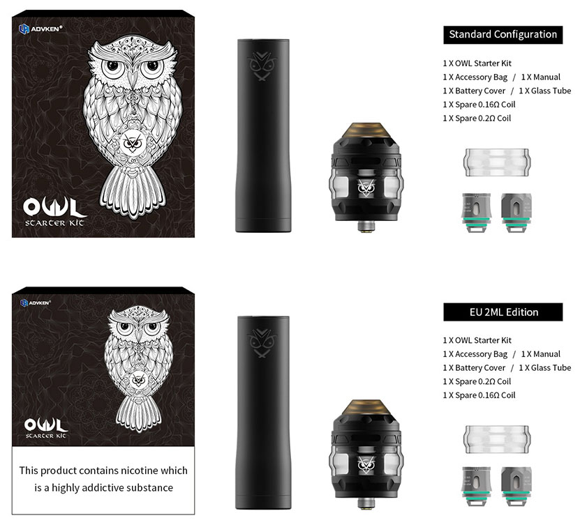Advken OWL Kit Packing Contents