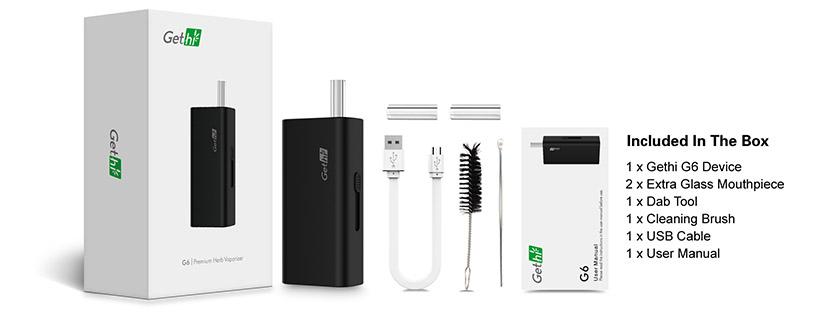 Airis Gethi G6 Vape Kit Content