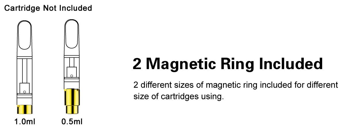 Airis Mystica II Vaporizer magnetic rings