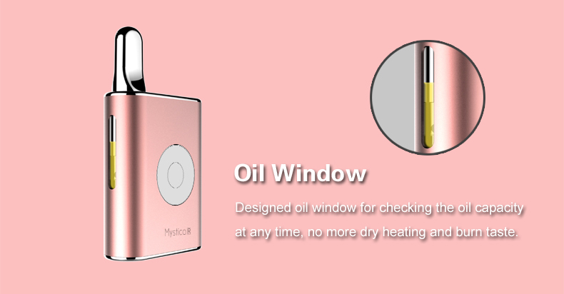 Airis Mystica R Vaporizer Oil Window