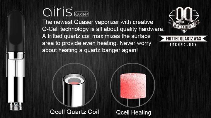 Airis Quaser Vaporizer Qcell Quartz Technology