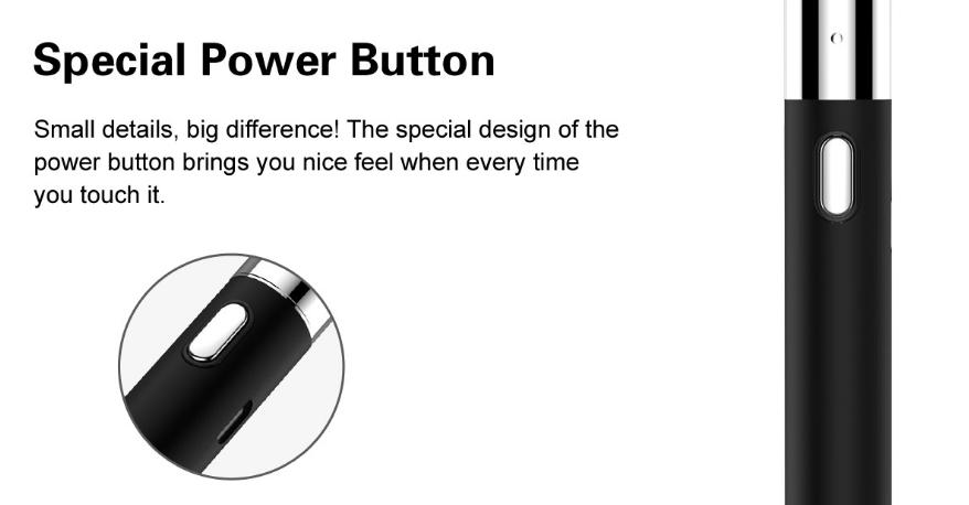 Airistech Q-Tip Vaporizer Kit Power Button