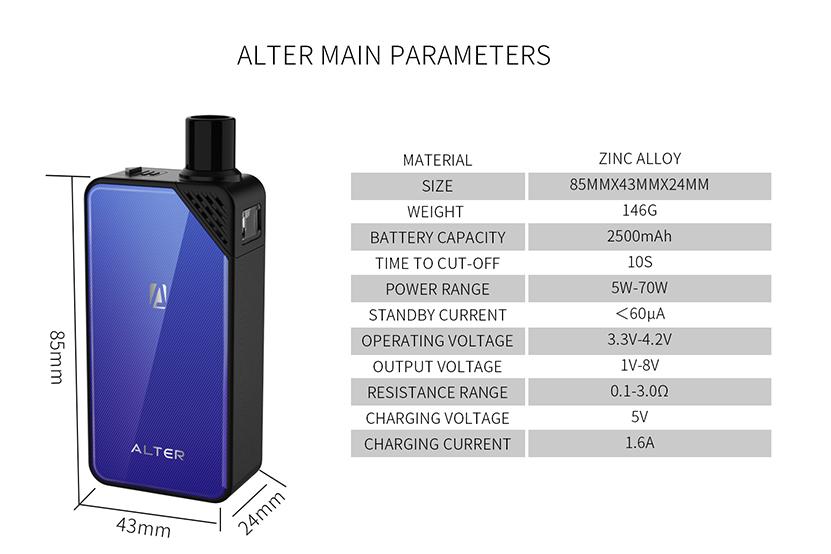 Alter Pod System Kit Specification