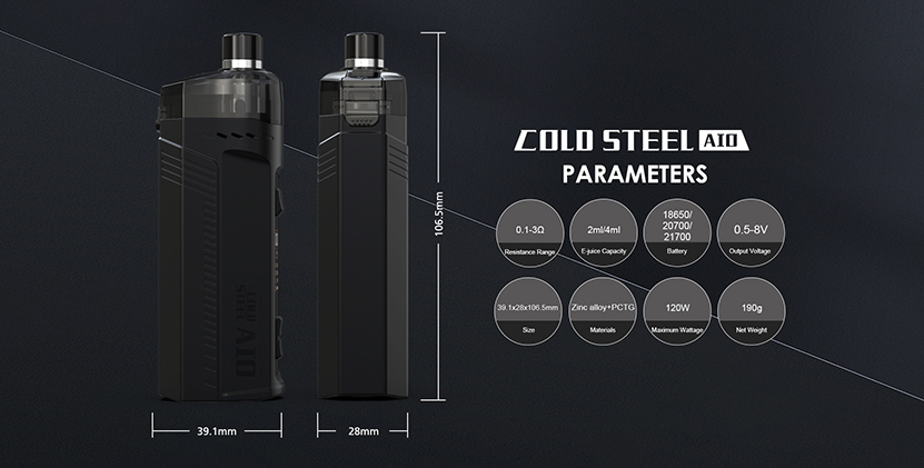 Artery Cold Steel AIO Pod Mod Kit Parameter