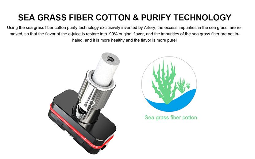 Artery PAL SE Pod System Vape Kit Sea Grass Cotton and Purify Technology