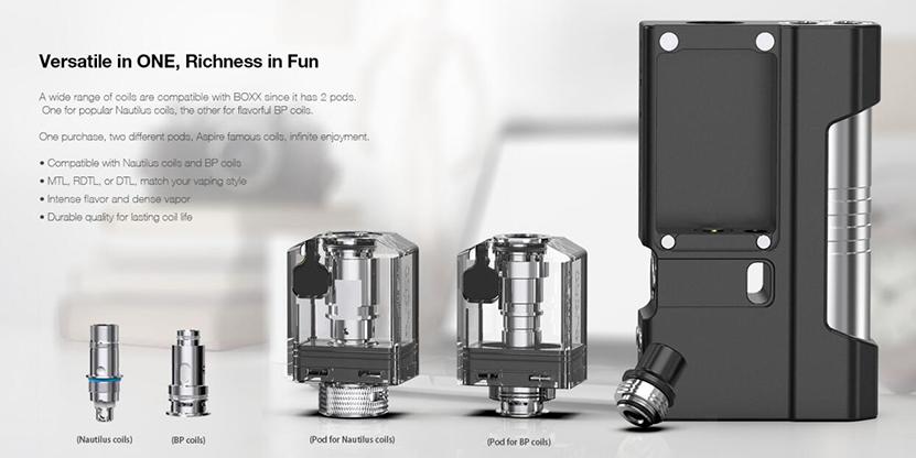 Aspire BOXX Kit Feature 7
