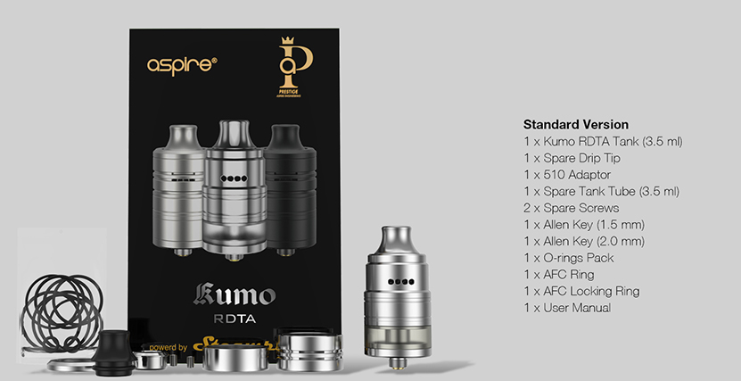 Aspire Kumo RDTA package