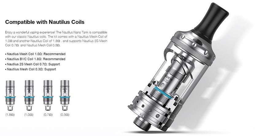 Aspire Nautilus Nano Tank Feature 4