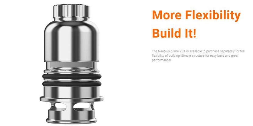 Aspire Nautilus Prime RBA Coil More Flexibility
