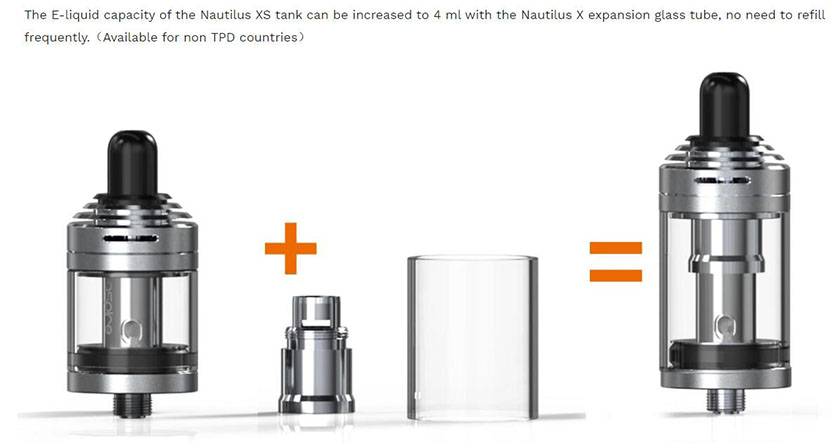 Aspire Nautilus XS Tank Feature 2