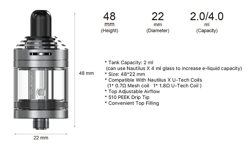 Aspire Nautilus XS Tank Feature 6