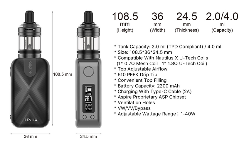 Aspire Rover 2 Kit Features 7