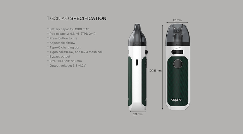 Aspire Tigon AIO Kit Feature 9