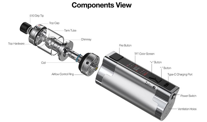 Aspire Zelos 3 Kit component