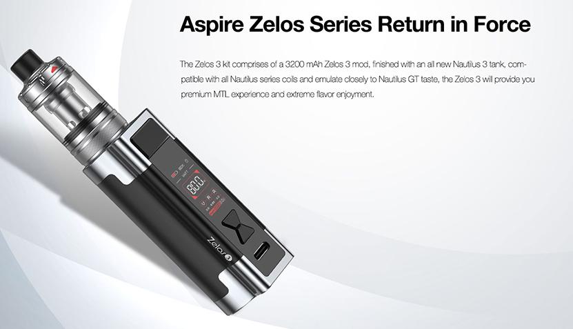 Aspire Zelos 3 Kit feature2