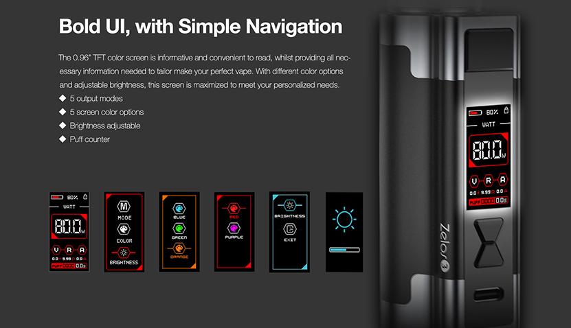 Aspire Zelos 3 Kit feature4
