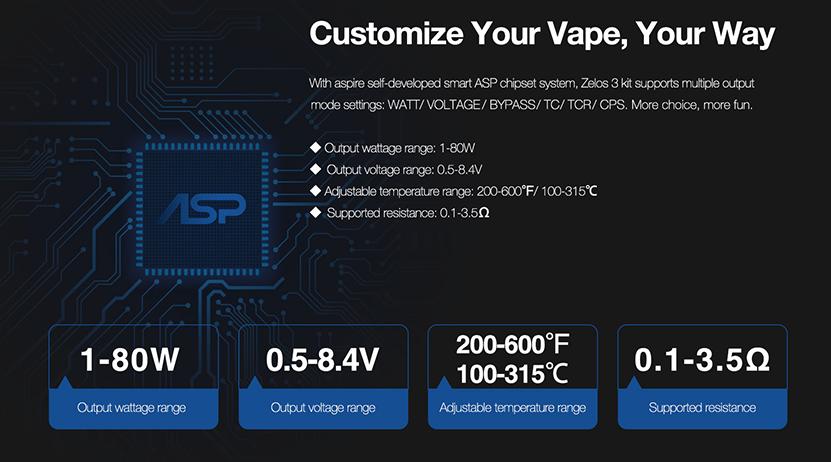 Aspire Zelos 3 Kit feature5