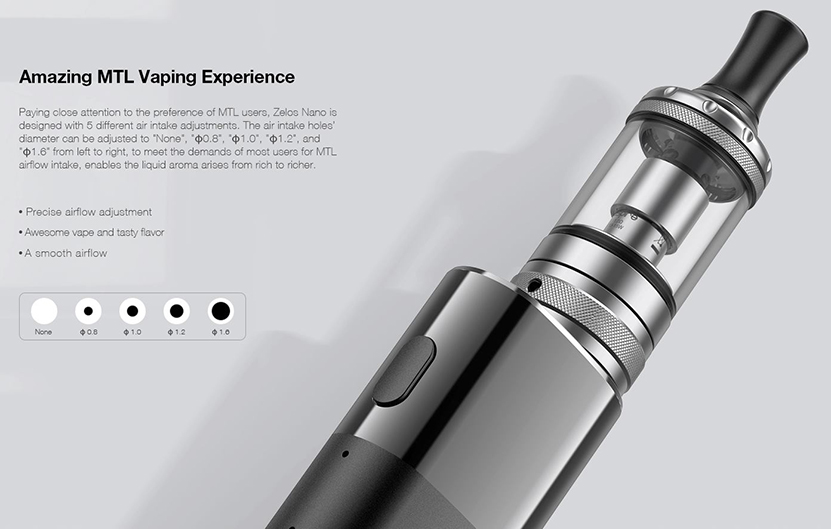 Aspire Zelos Nano Kit Feature 1