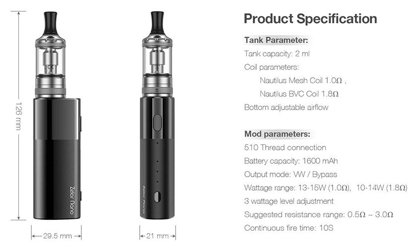 Aspire Zelos Nano Kit Feature 13