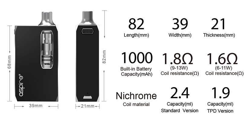 Aspire K1 Stealth Kit Feature 5