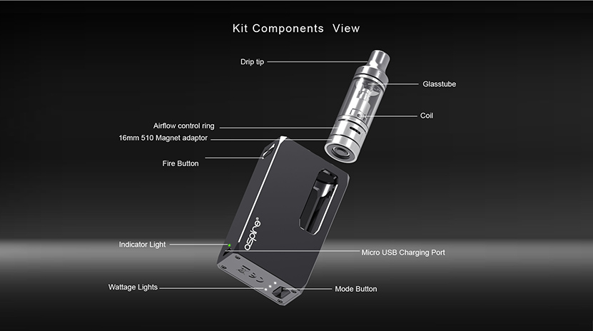 Aspire K1 Stealth Kit Feature 1