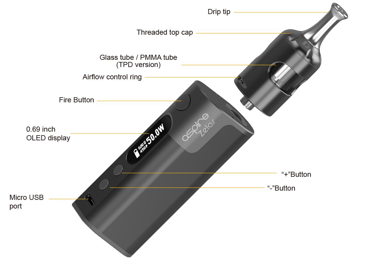 Aspire Zelos 50W 2.0 Kit Feature 3