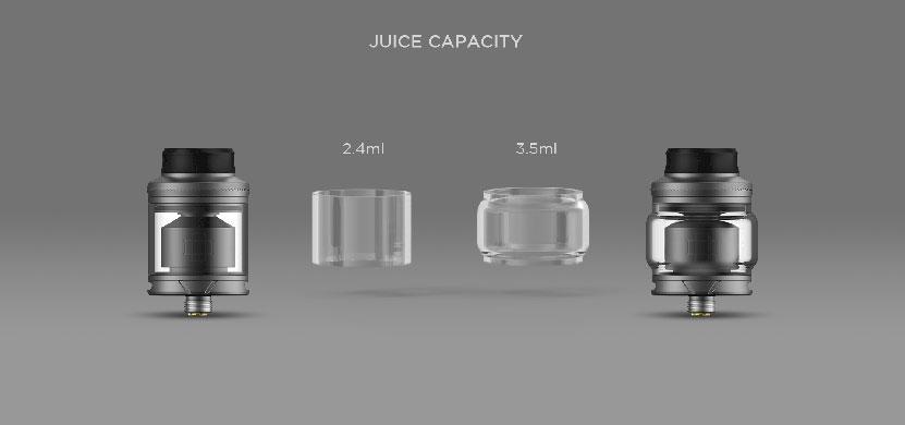 Augvape Druga RTA Atomizer Juice Capacity