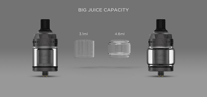 Augvape Intake MTL RTA Tank Juice Capacity