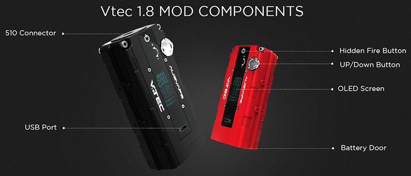 VTEC 1.8 200W Box Mod