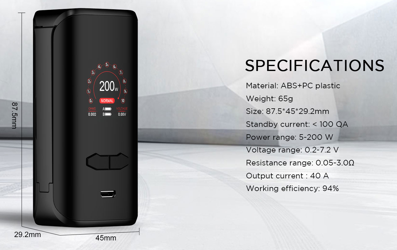 VX200 Vape Mod Features 2