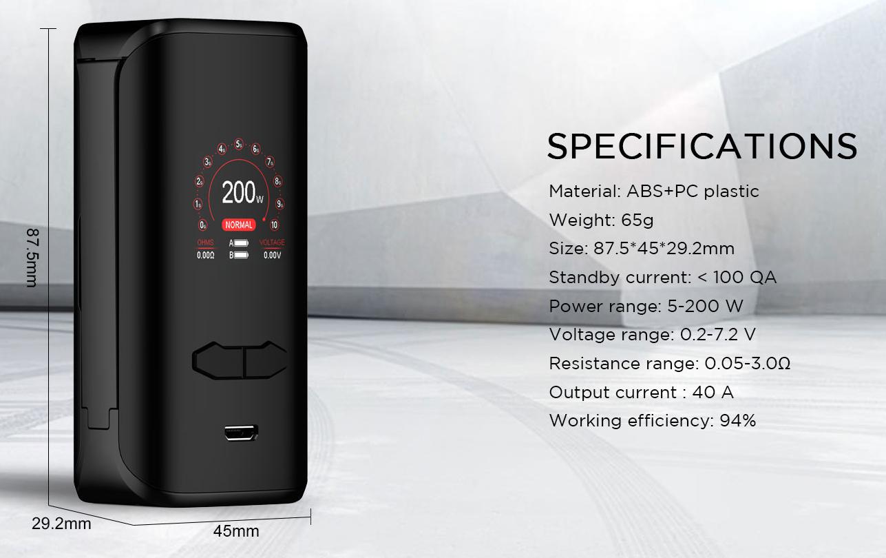 VX200 Vape Kit Features 2