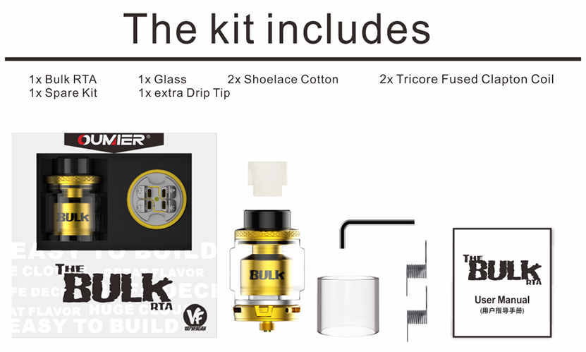 Bulk RTA Includes