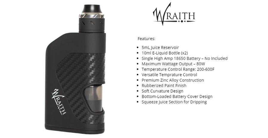 COV Wraith 80W Squonker Kit Features