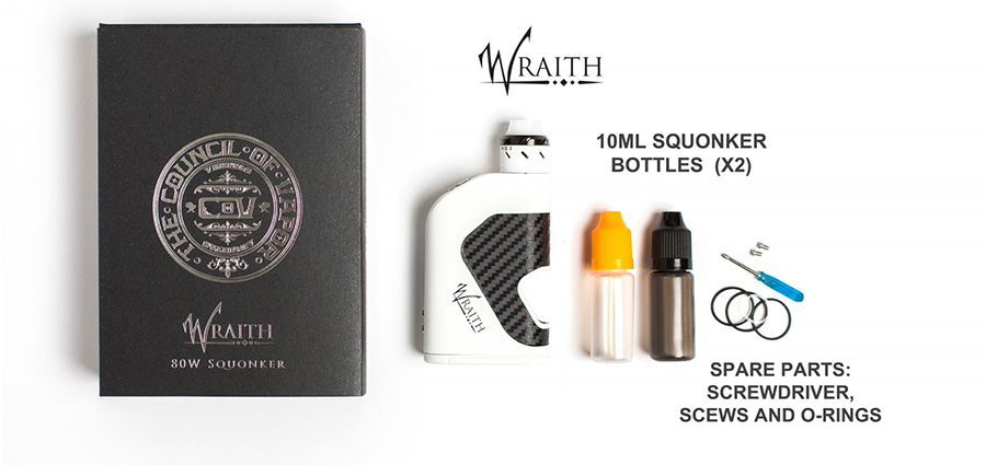 COV Wraith 80W Squonker Kit Package