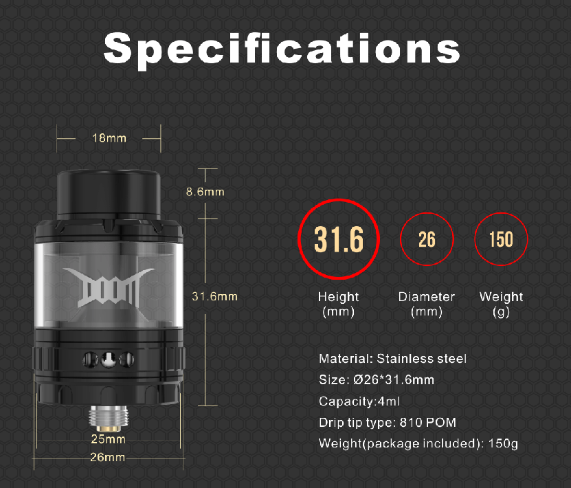DOOM Mesh RTA Specifications